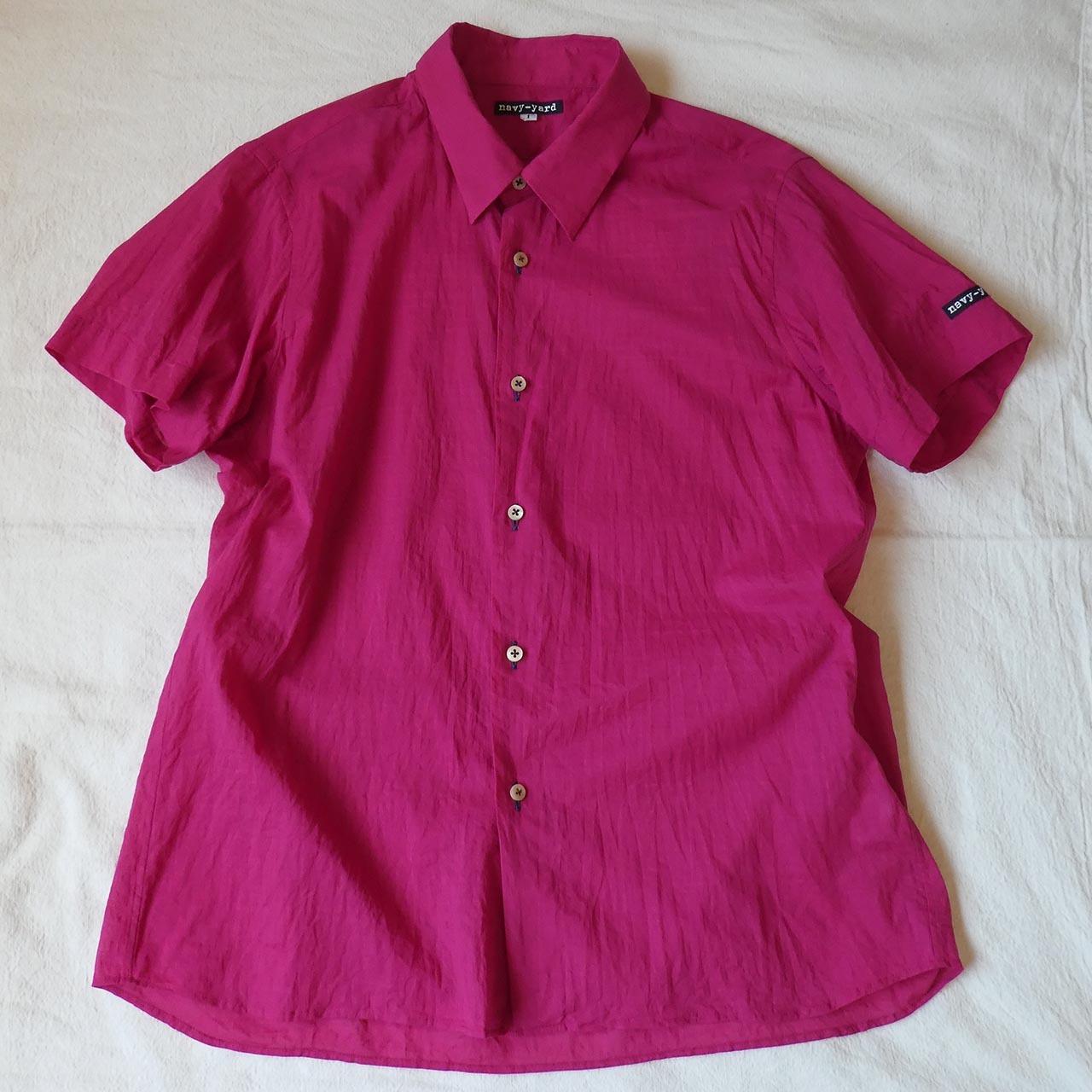 コットンスラブローン narrow 半袖シャツ