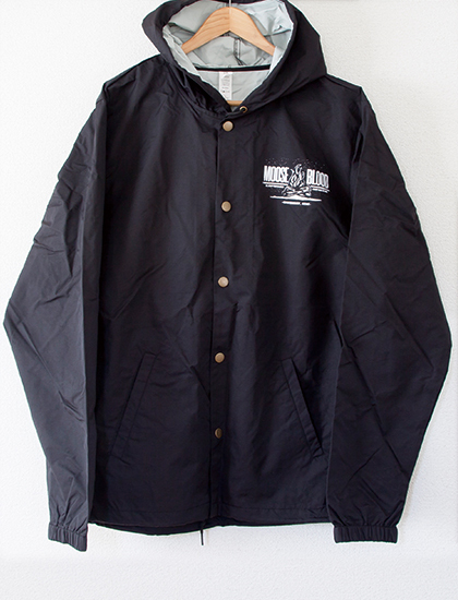 【MOOSE BLOOD】Campfire Windbreaker (Black)