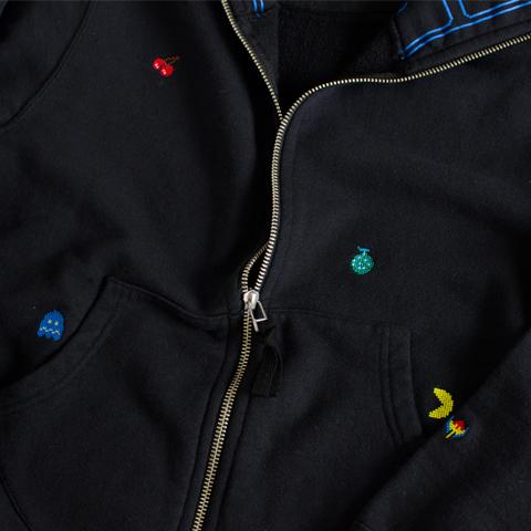 PAC-MAN ジップパーカー /FRUITS TARGET (ブラック) / Dot Like