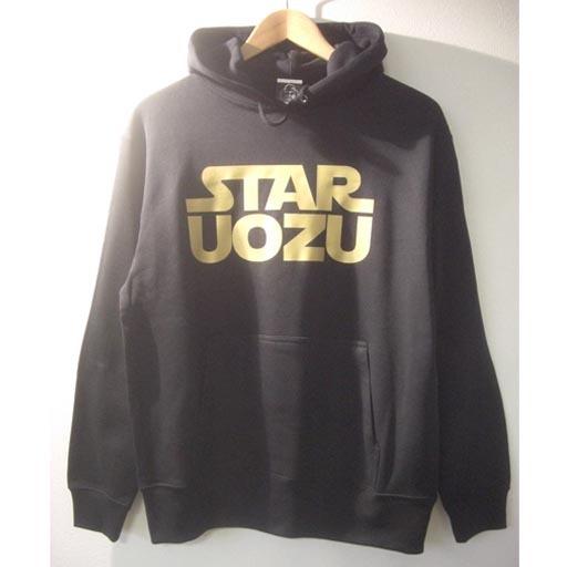 STAR UOZU パーカー ブラック×ゴールド