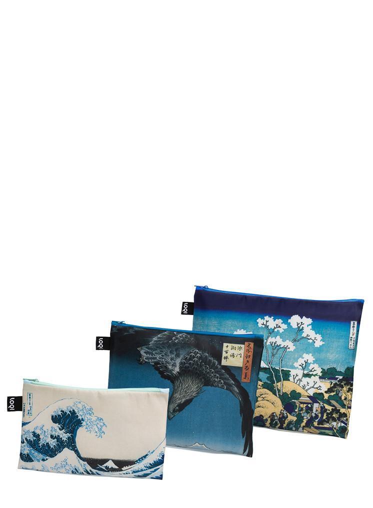 LOQI  Museum Zip Pockets - HOKUSAI, HIROSHIGE