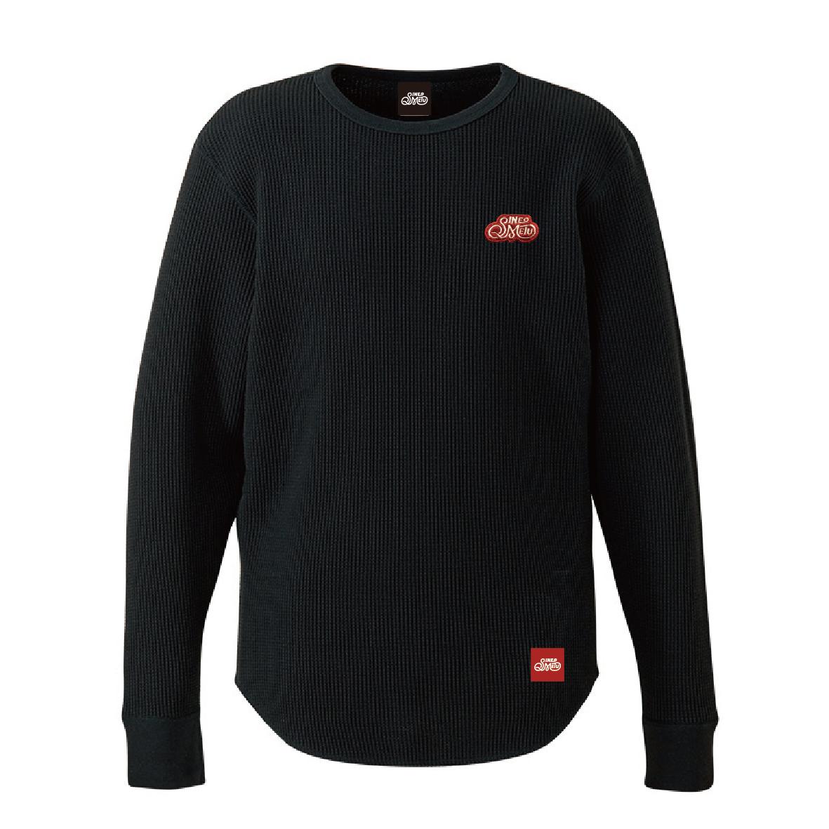 ロゴワッペン サーマルTシャツ 長袖 / ブラック | SINE METU - シネメトゥ