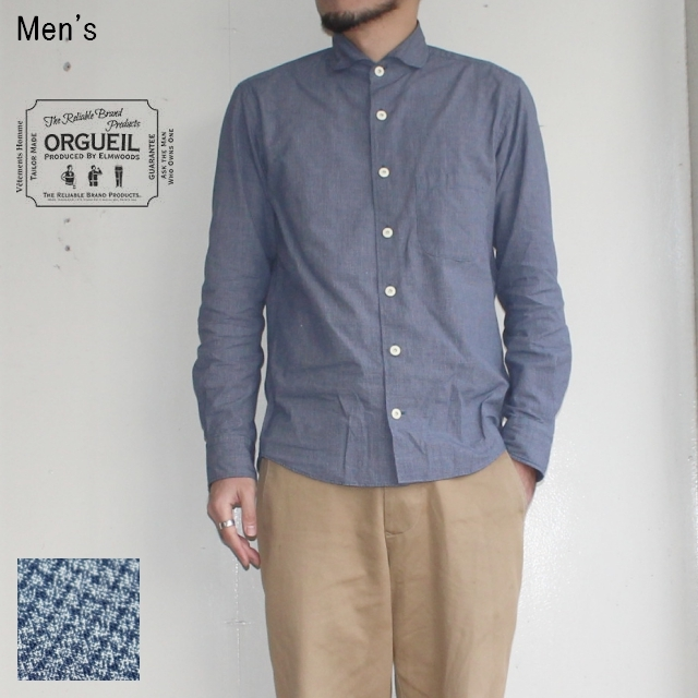ORGUEIL ウィンザーカラーシャツ Windsor Collar Shirt  OR-5024A (BLUE CHECK)