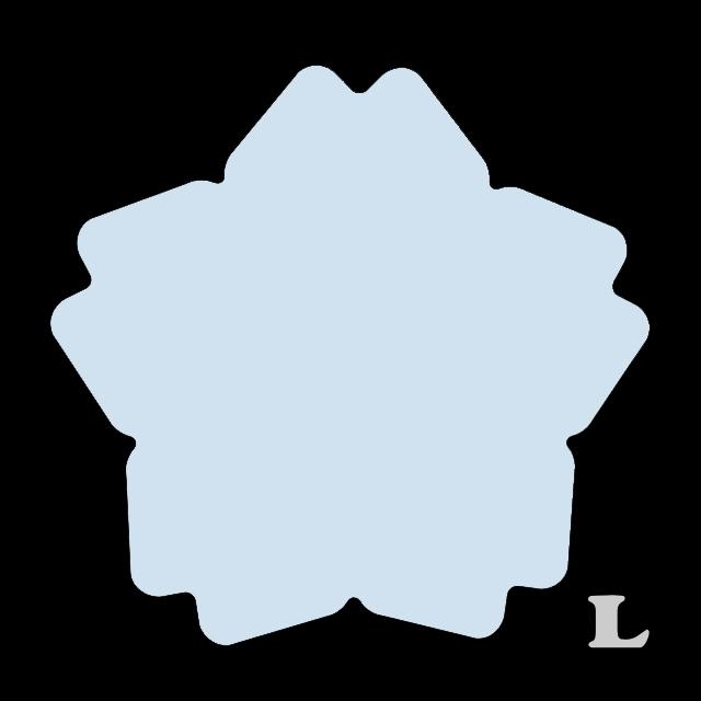 サクラ型(L)★ライトブルー