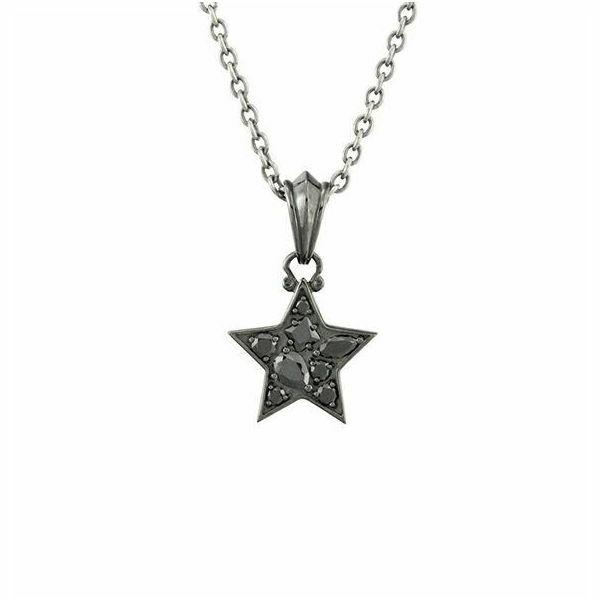 ダークネススターチャーム シルバーネックレス AKP0083 Darkness Star Charm Silver Necklace