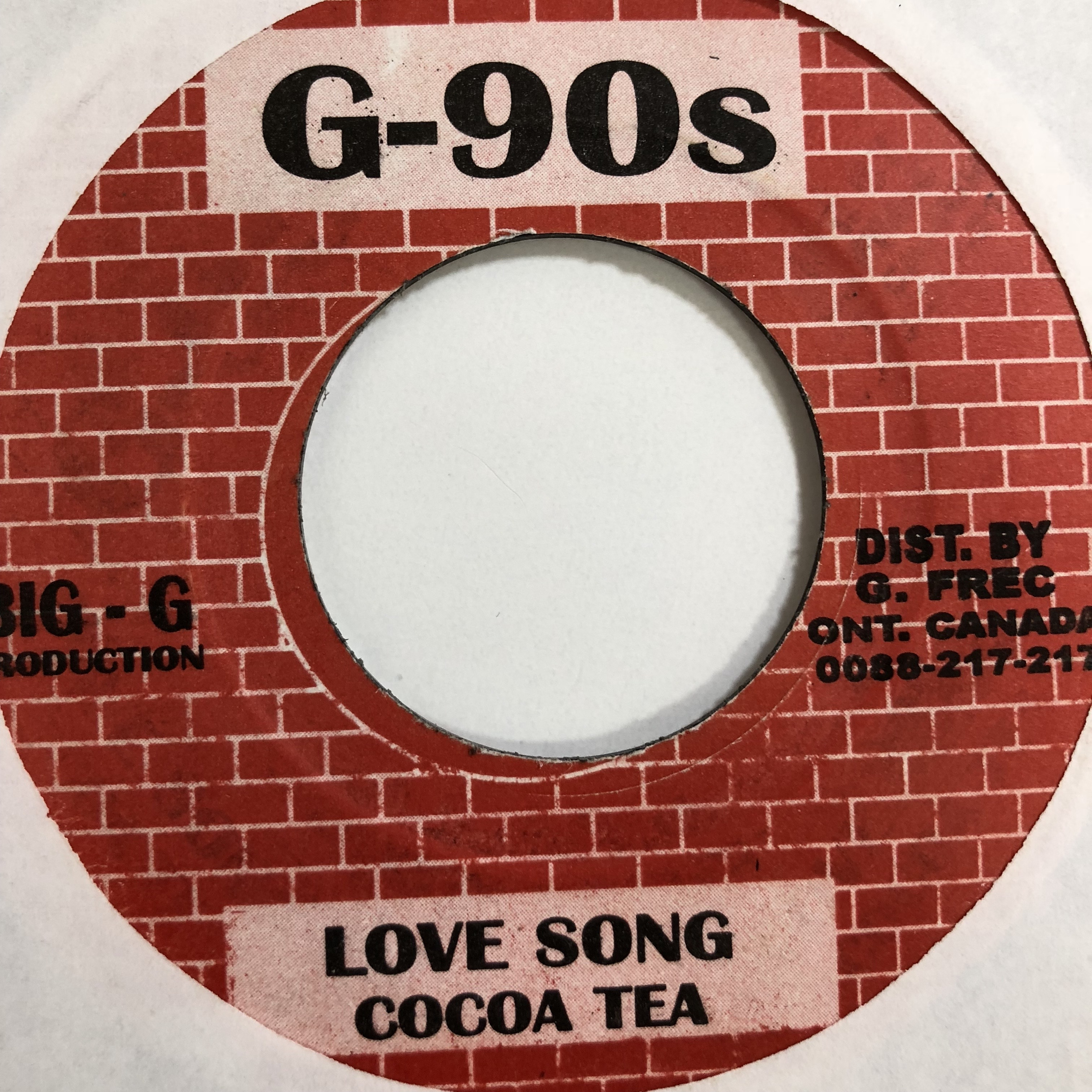 Cocoa Tea(ココティー) - Love Song【7'】