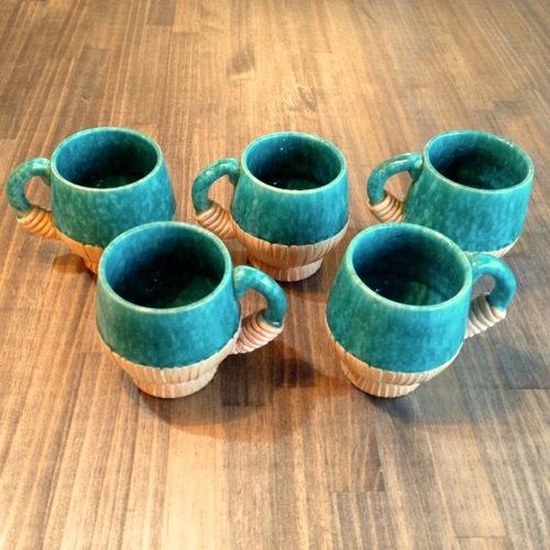 Italian Art Nouveau Mug Set
