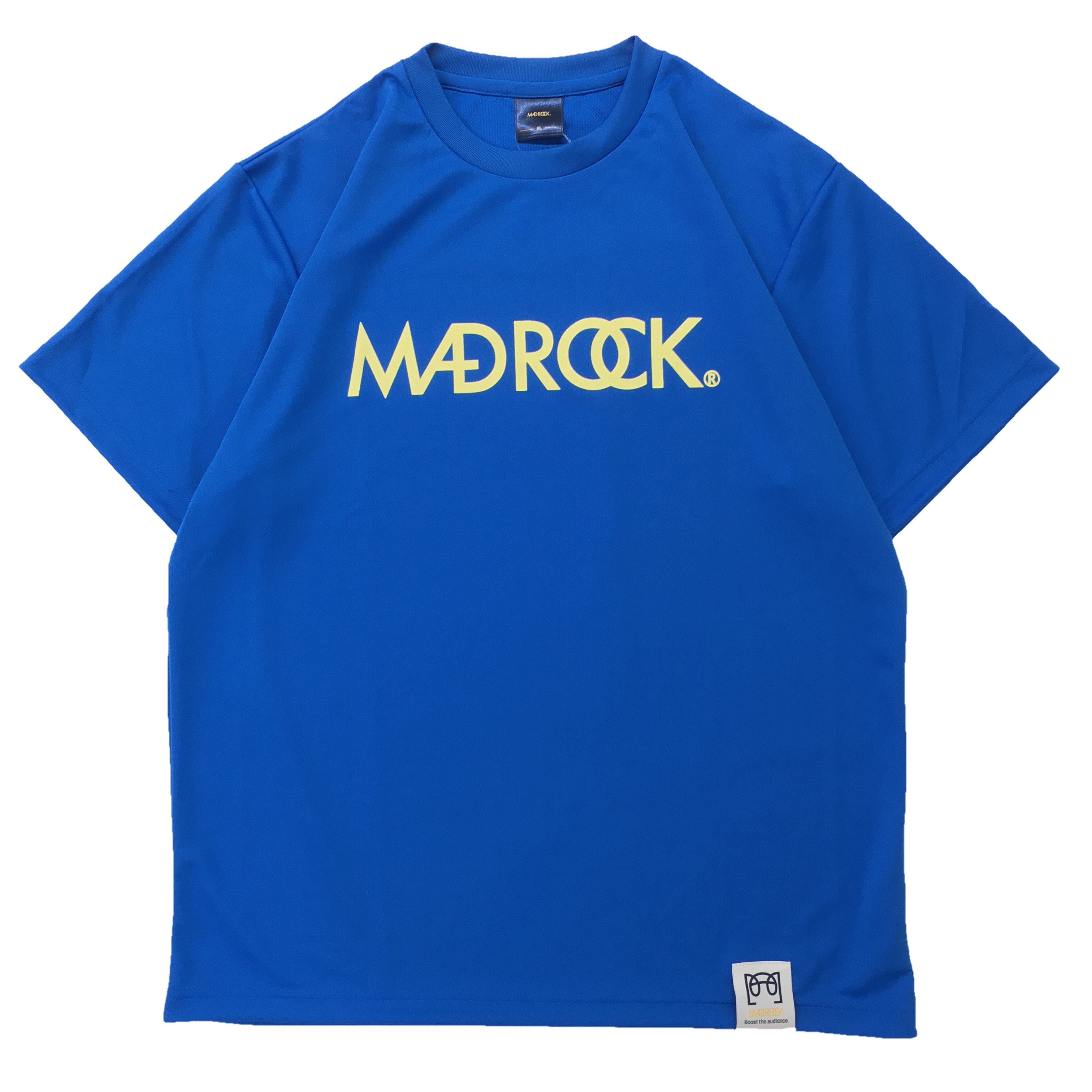 【新作/オンラインストア限定】マッドロックロゴ Tシャツ / ドライタイプ / ミディアムブルー & レモン
