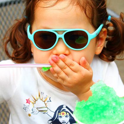 delieb NAKURU シリーズ キッズサングラス(0〜3歳用)日よけ 暑さ対策 お出かけ 紫外線対策