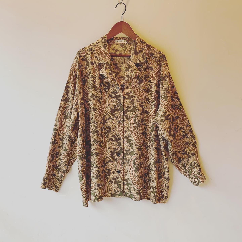 【SALE】vintage paisley shirts
