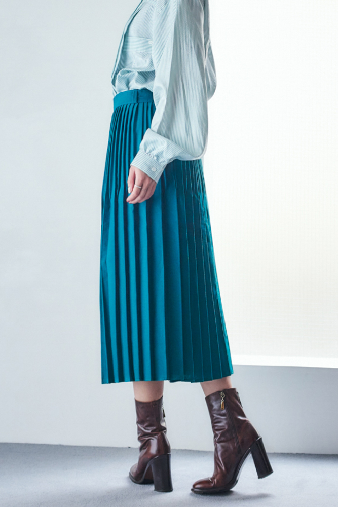 90's Green Pleated Skirt