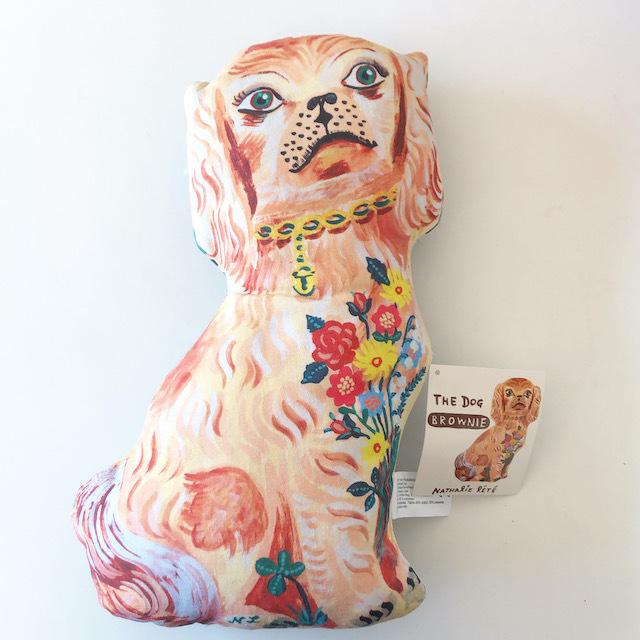 """Nathalie Lete """"Brown Cheshire Dog"""" ナタリーレテ スタッフォードシャードッグ 人形 ドール"""