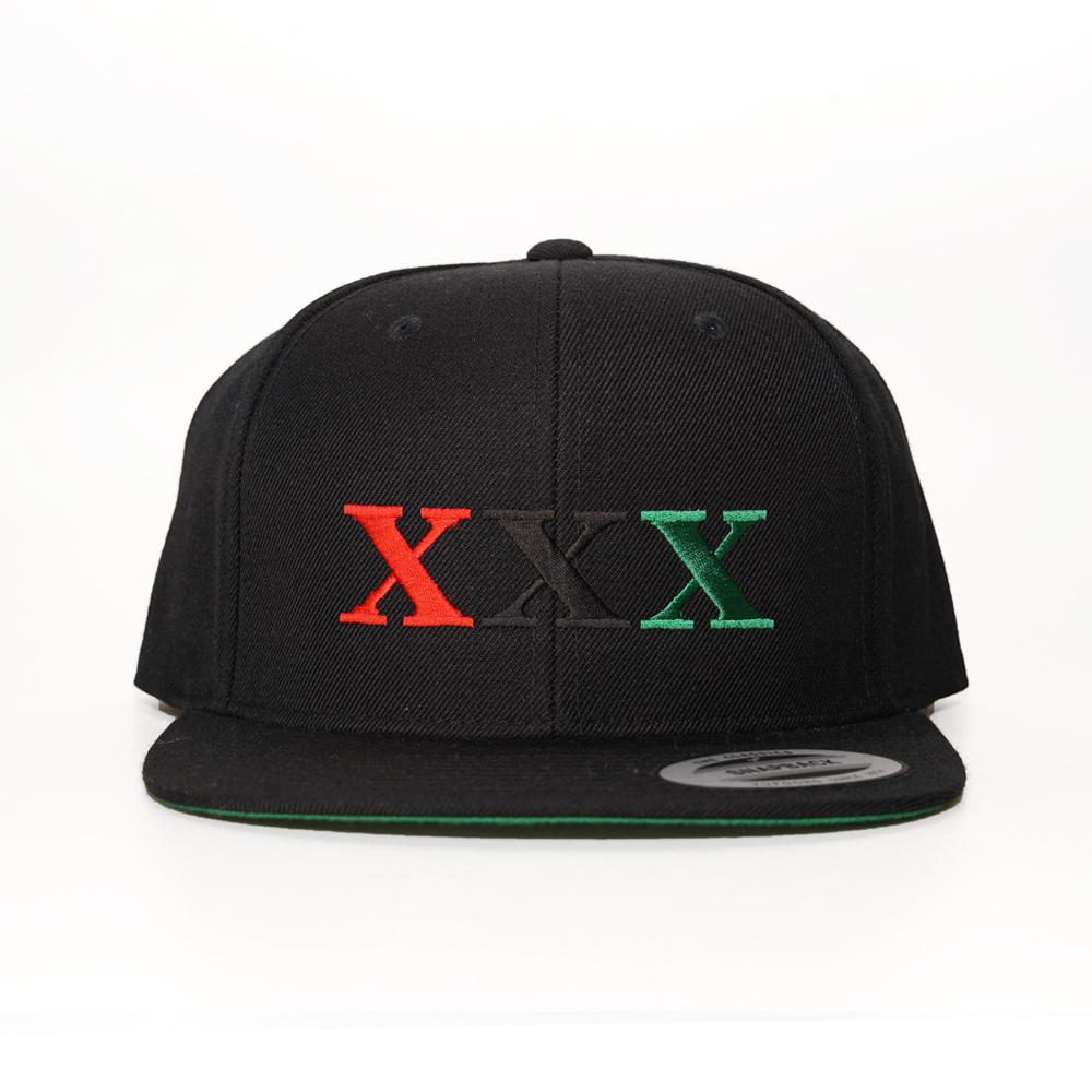 Stay Black Salute XXX 6PANEL SNAPBACK CAP (BLACK)