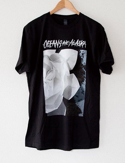 【OCEANS ATE ALASKA】Flower T-Shirts (Black)