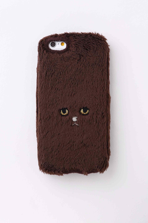 ネコiPhone6カバー 【ブラウン】