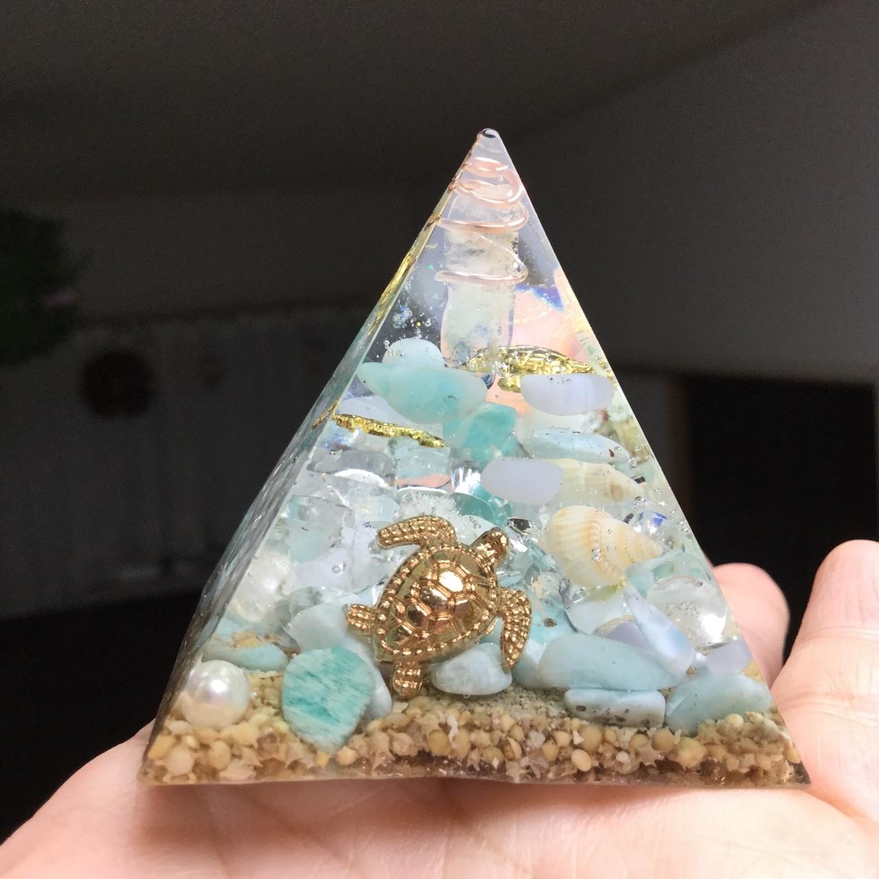 【オーダー】海のオルゴナイト  ラリマー、アマゾナイト、ブルーレースアゲート