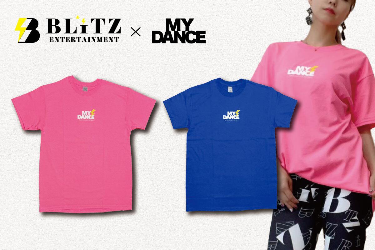 MYDANCE × BLITZ tee Pink・Blue