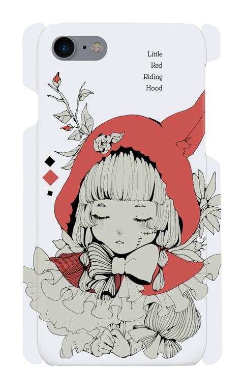 【送料無料】六花デザイナーUMEオリジナル iPhone7 スマホケース【Little Red】