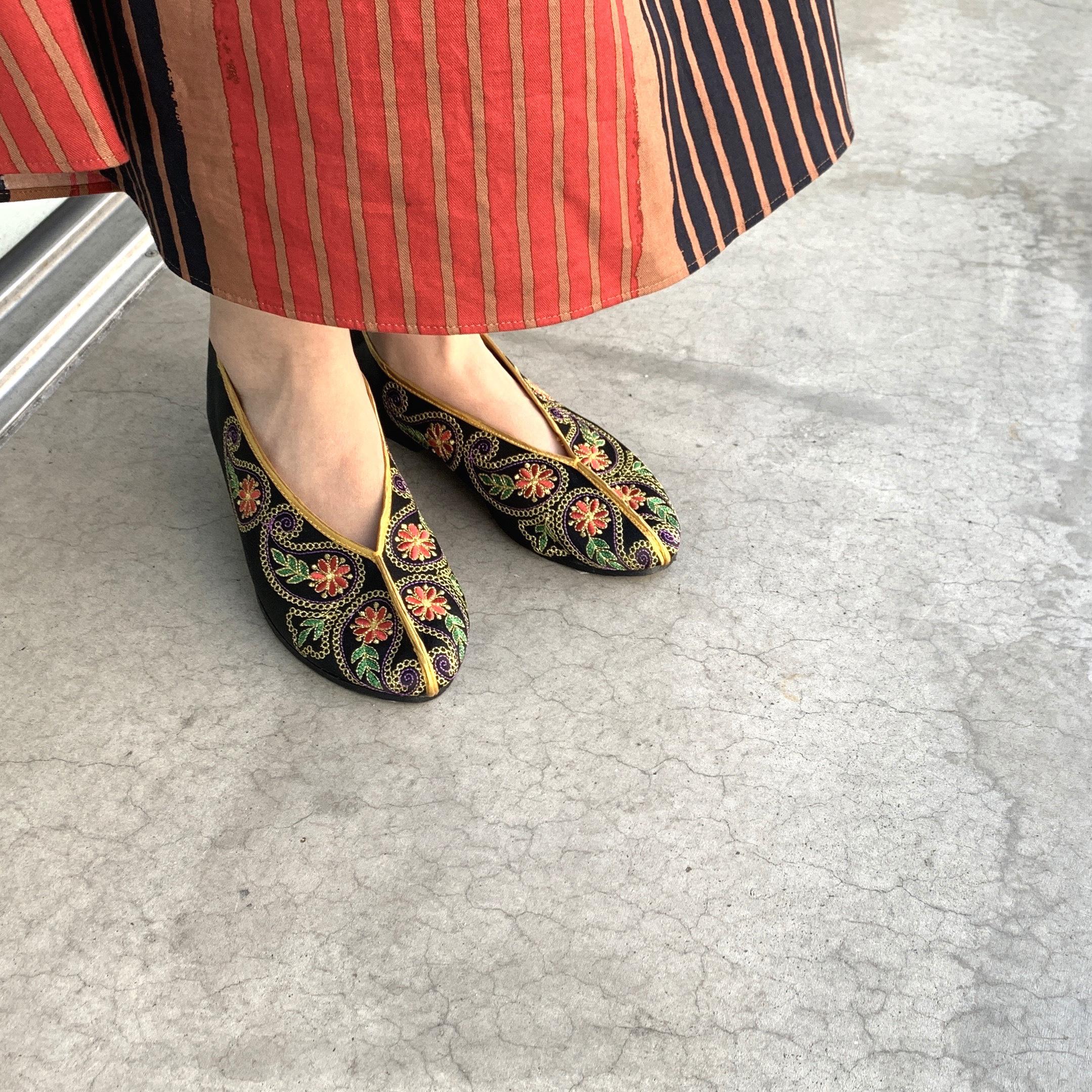 Taiwan China shoes 【台湾刺繍フラットシューズ】
