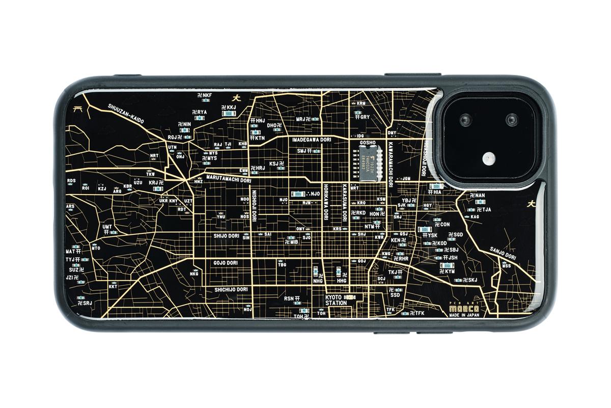 FLASH 京都回路地図 iPhone 11 ケース  黒【東京回路線図A5クリアファイルをプレゼント】