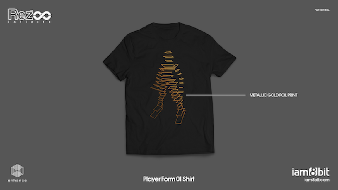 【Rez Infinite】Tシャツ(Level 01 Player Form) - 画像2