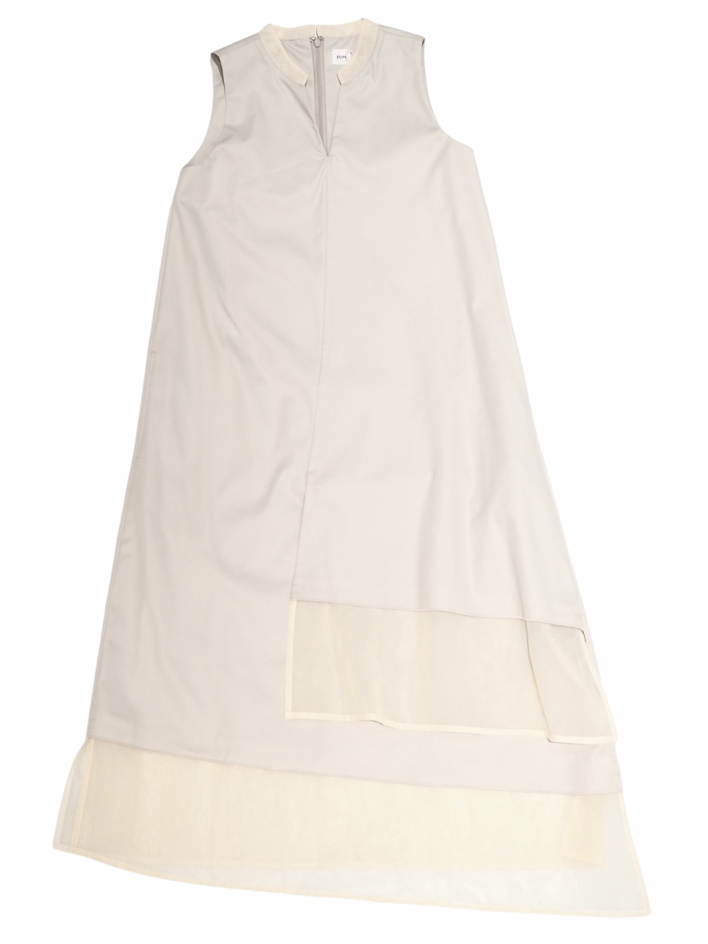【ELIN】GABA/ORGANZA COMBI DRESS