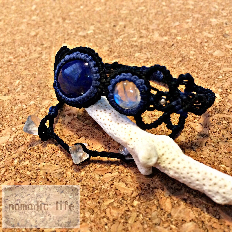 LapisLazuli & RainbowMoonStone Bracelet//No.102