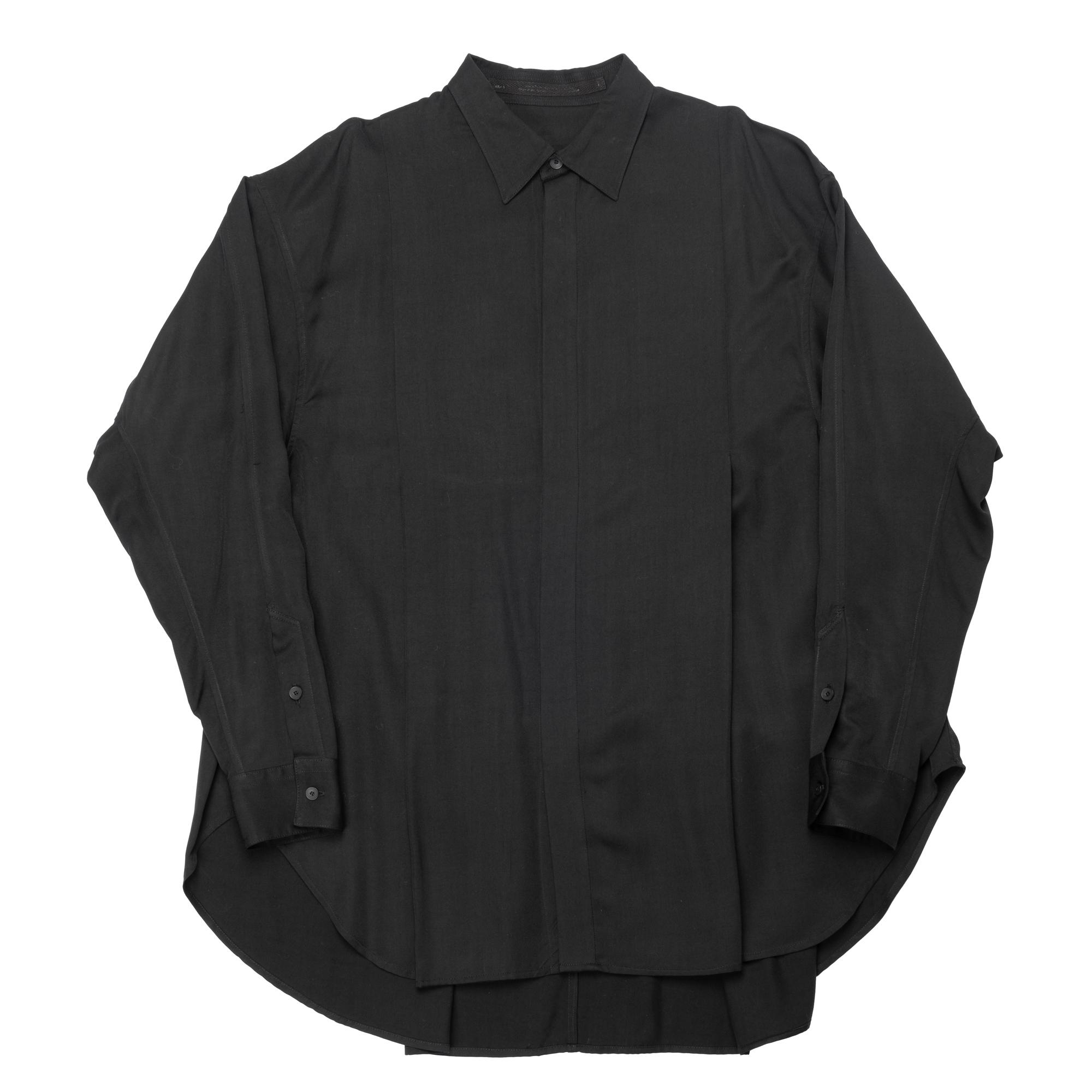 647SHM2-BLACK / タックドワイドシャツ