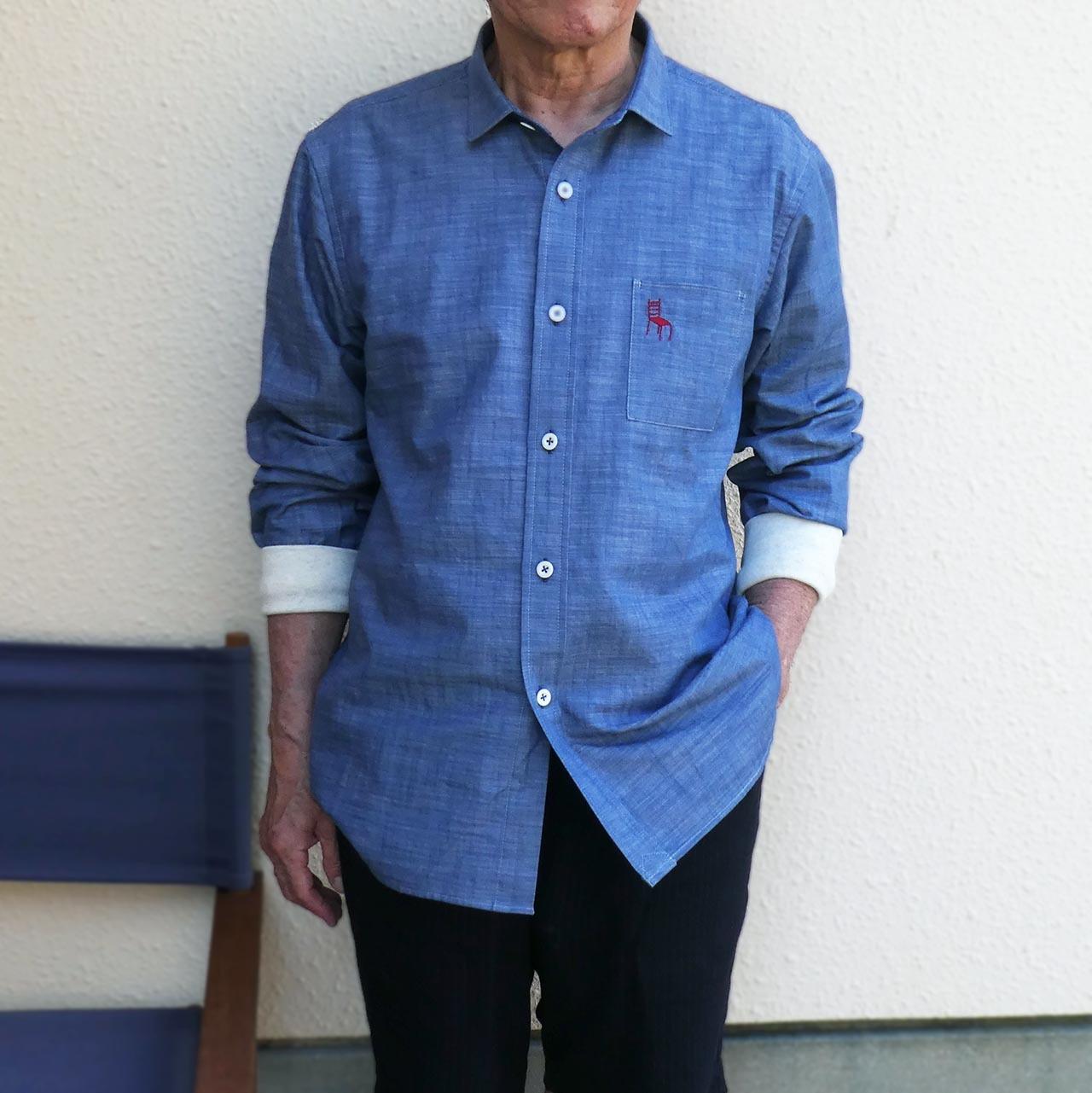 ご予約受付中 HOME ワークシャツ ソフトデニムシャンブレー