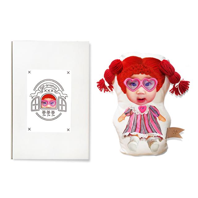 Yarn wig doll