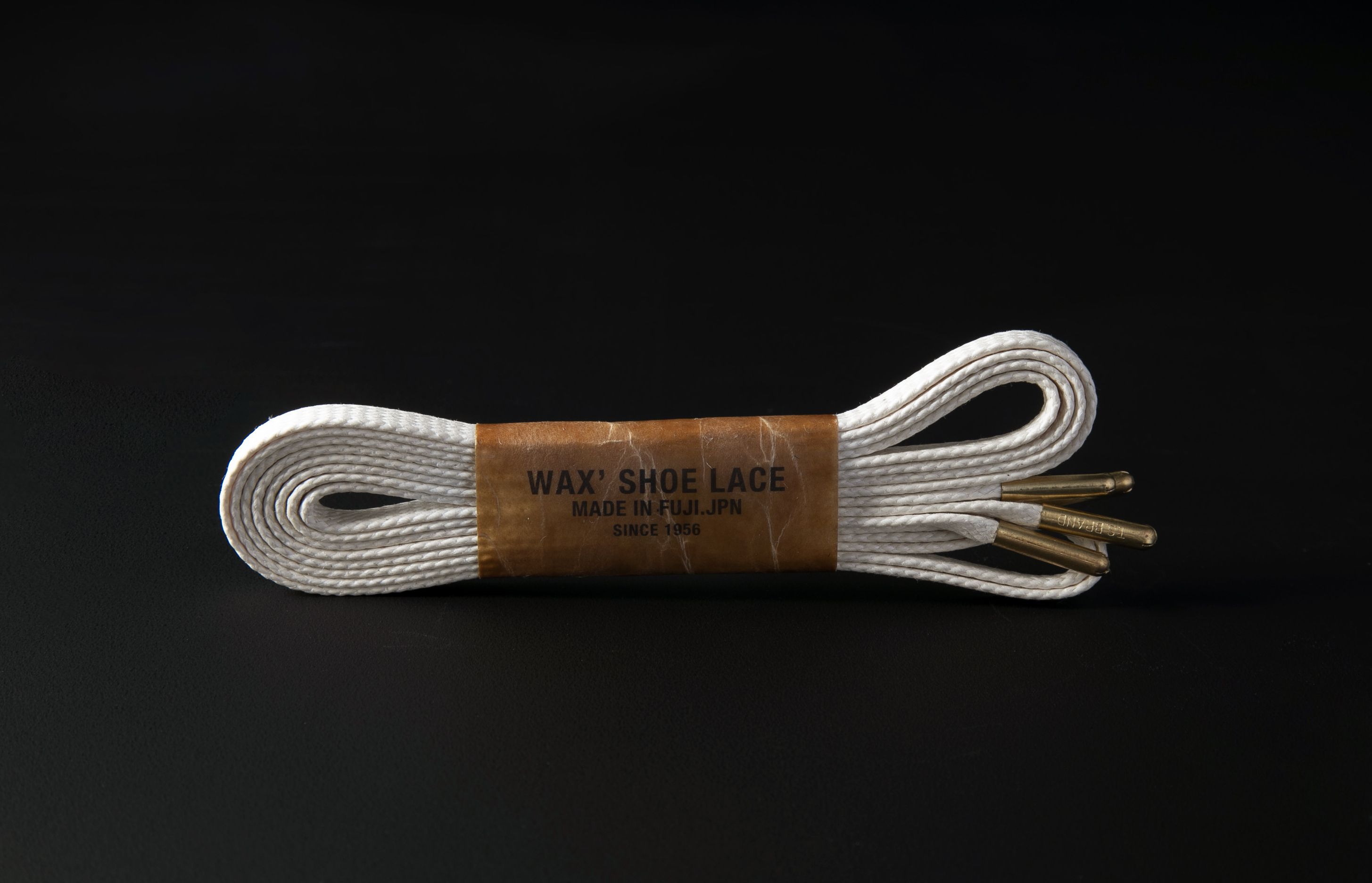 WAX' SHOE LACE -FLAT- / NATURAL