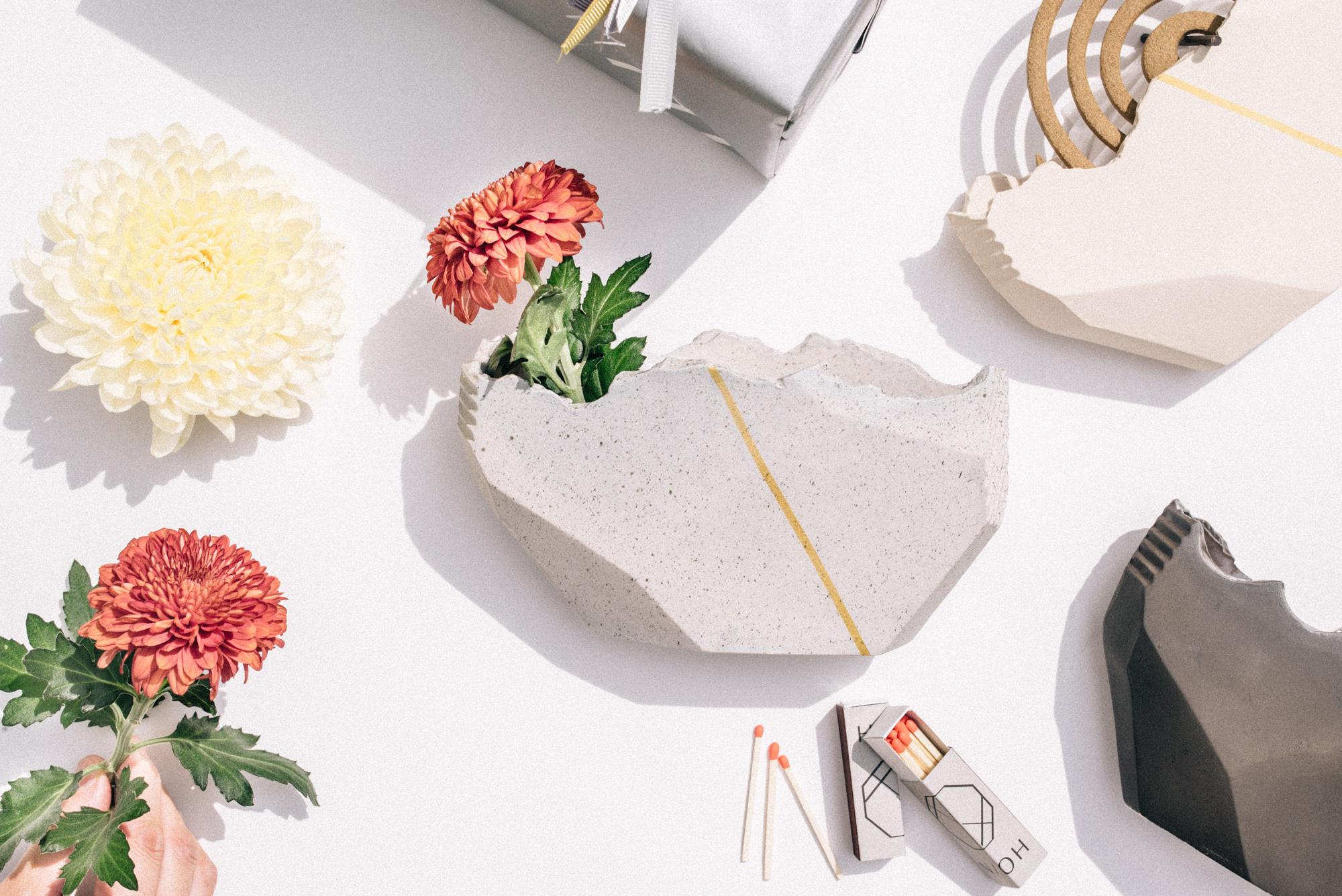 花と香立て / セット版 -白亜/サガン/鐵- ※3パターン選択