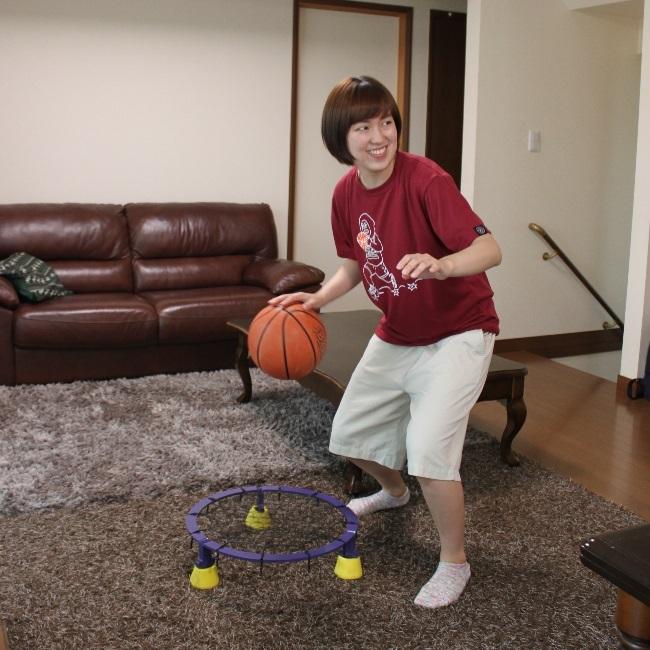 エアドリブル (AirDribble)最新版 空まめシステム バスケットボール ドリブル練習 室内 リビングで練習 ドリブル上達用品 直径50㎝ 高さ13㎝ 重量4.25㎏ プレゼント