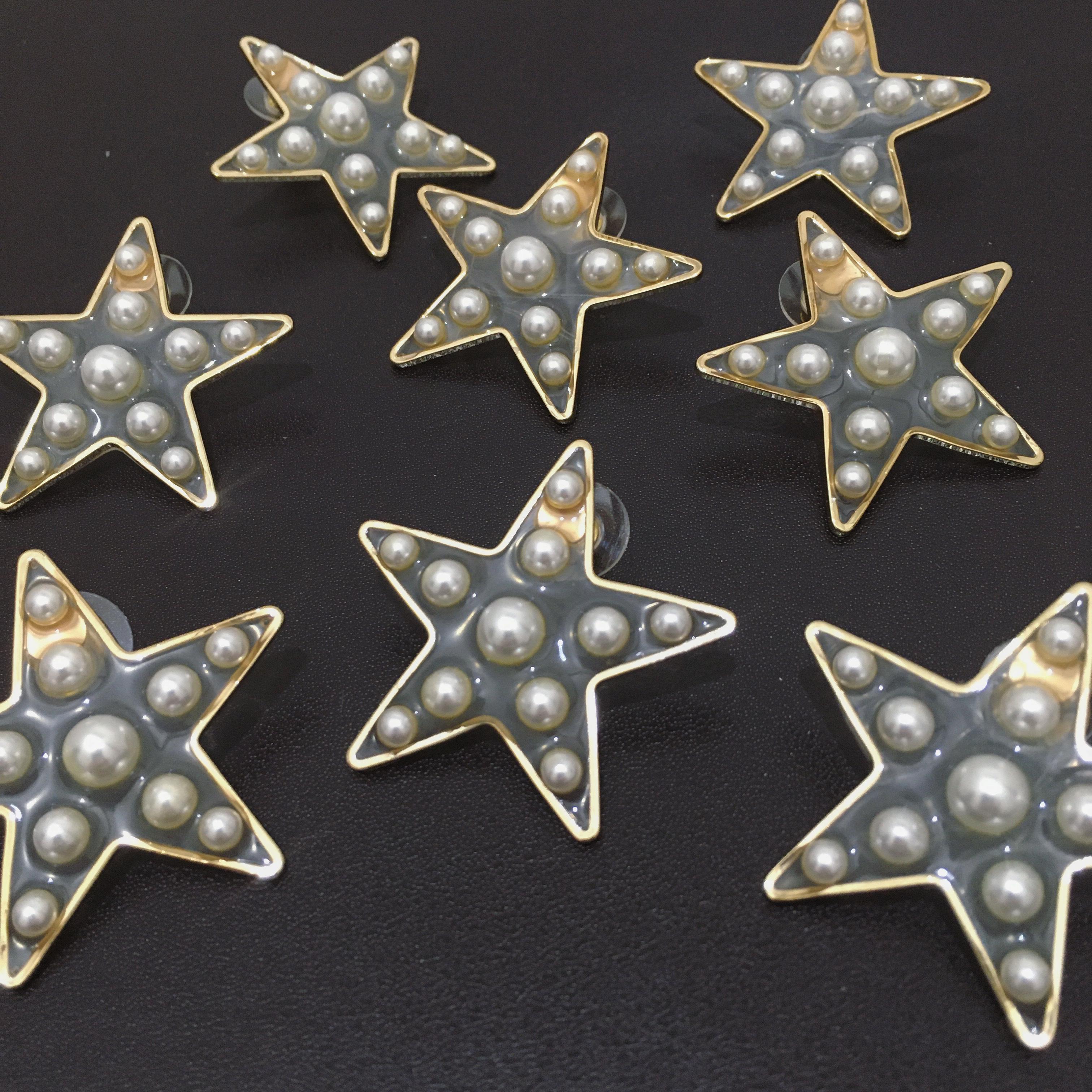 star×pearl pierce(silver925post)