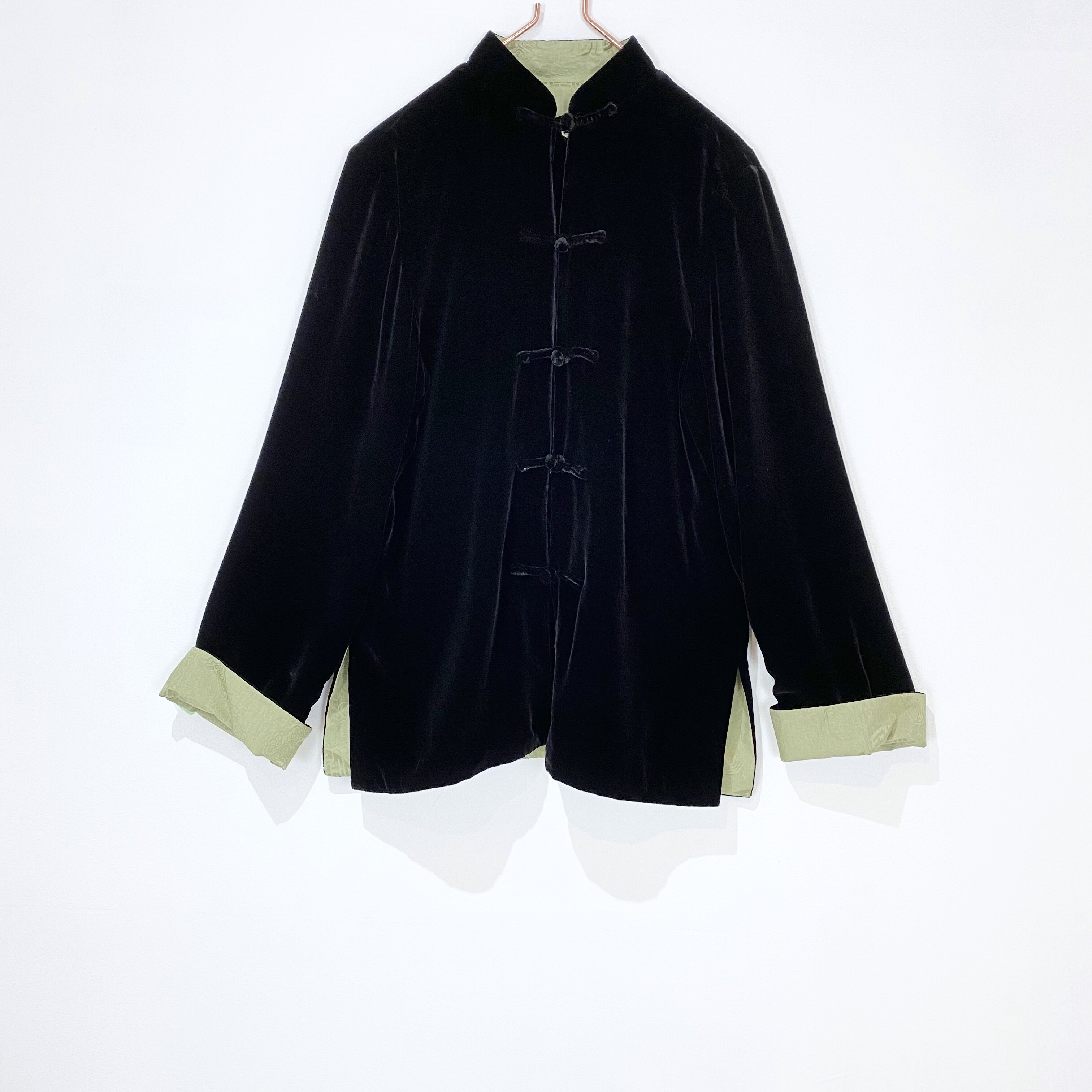 ◼︎90s Chinese style reversible jacket from U.S.A.◼︎