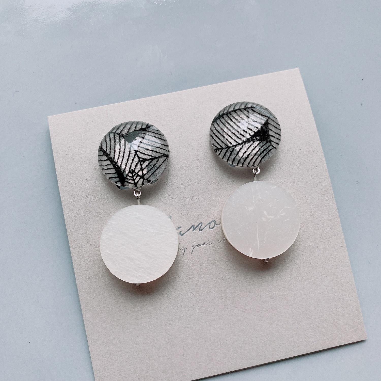 """ Earrings NO.danoan-75″ モノトーンリバティイヤリング"