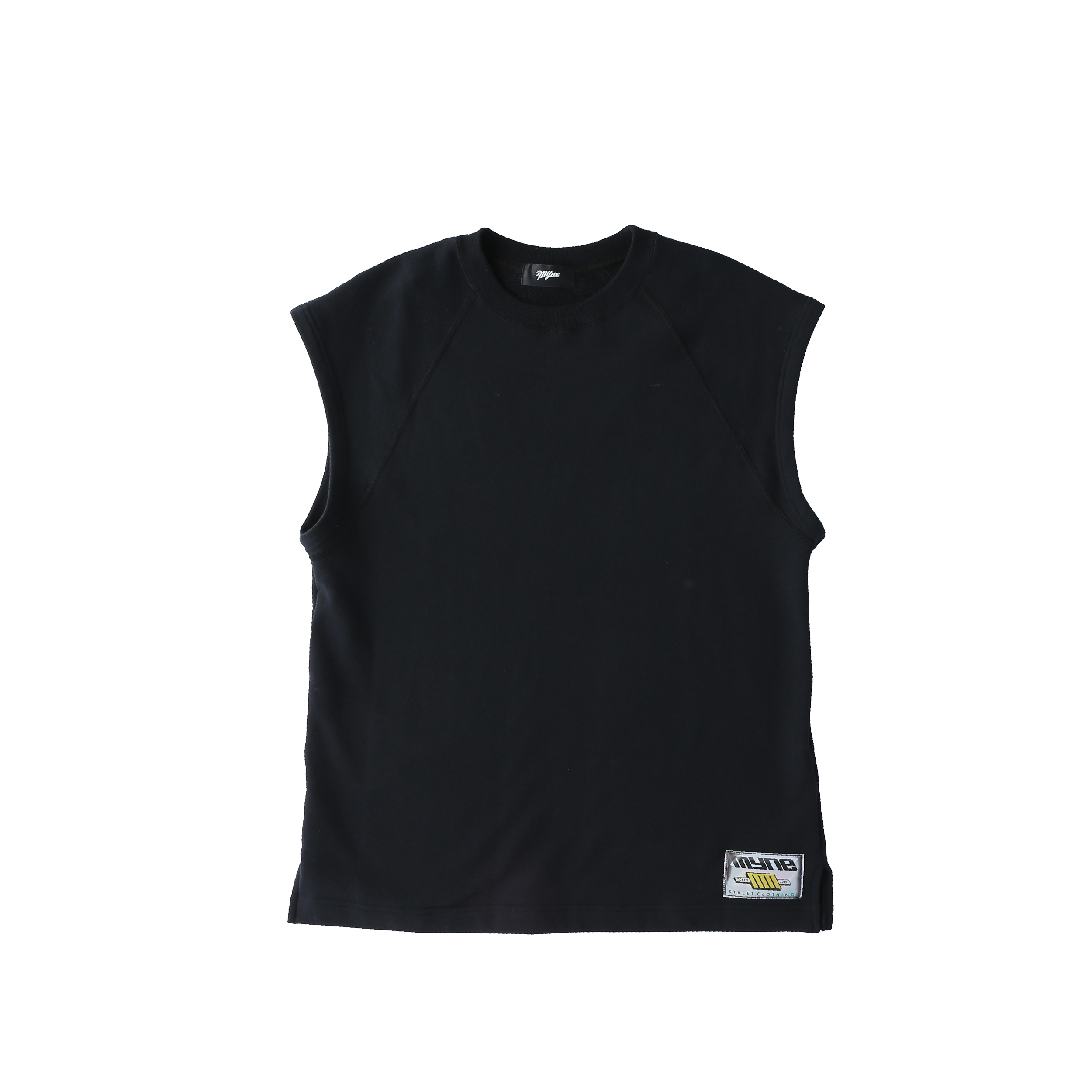 Wappen no-sleeve sweat / BLACK - 画像1