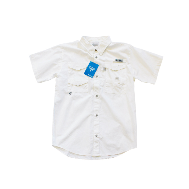 Import / Columbia PFG Bonehead Short Sleeve Shirts / Boys-XL
