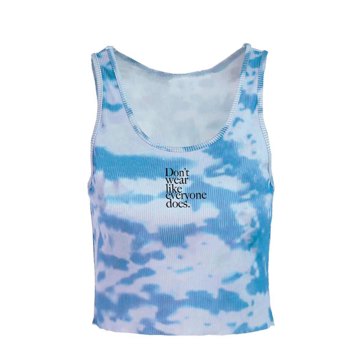 Don't wear like everyone does. Embroidery Tie-dye Tank