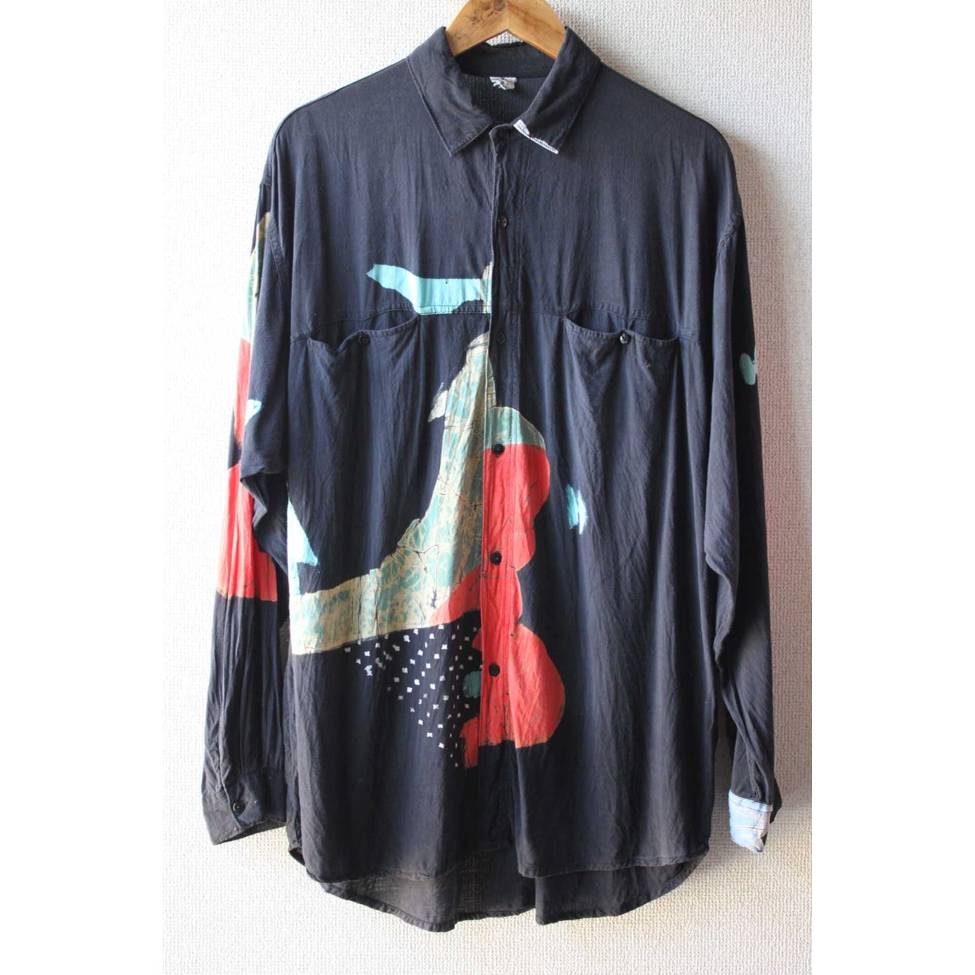 Vintage monotone print shirt