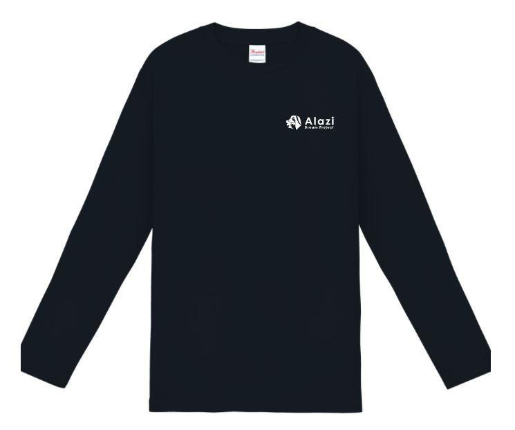 デザインロゴTシャツ黒(長袖)
