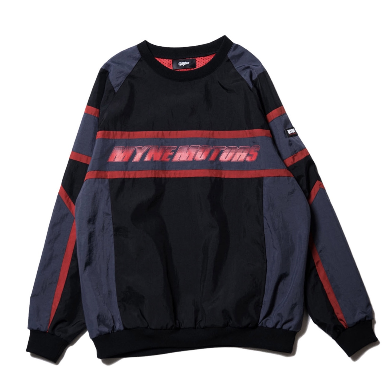 MYNE MOTORS nylon pullover / BLACK - 画像1