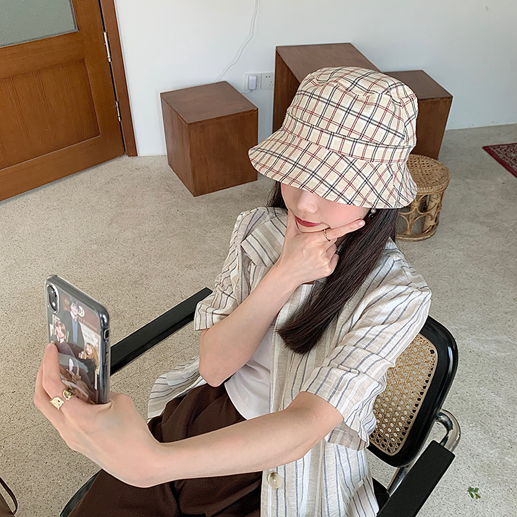 チェックバゲットハット 【check baguette hat】