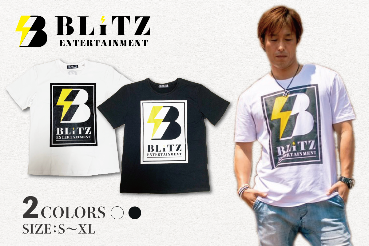 BLiTZ ロゴTシャツ(ホワイト、ブラック)