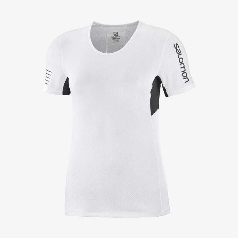 Salomon サロモン S/LAB SENSE TEE W WHITE / OYSTER MUSHROOM ウィメンズ/レディース S/LAB エスラブセンス Tシャツ ホワイト/オイスターマッシュルーム LC1511000