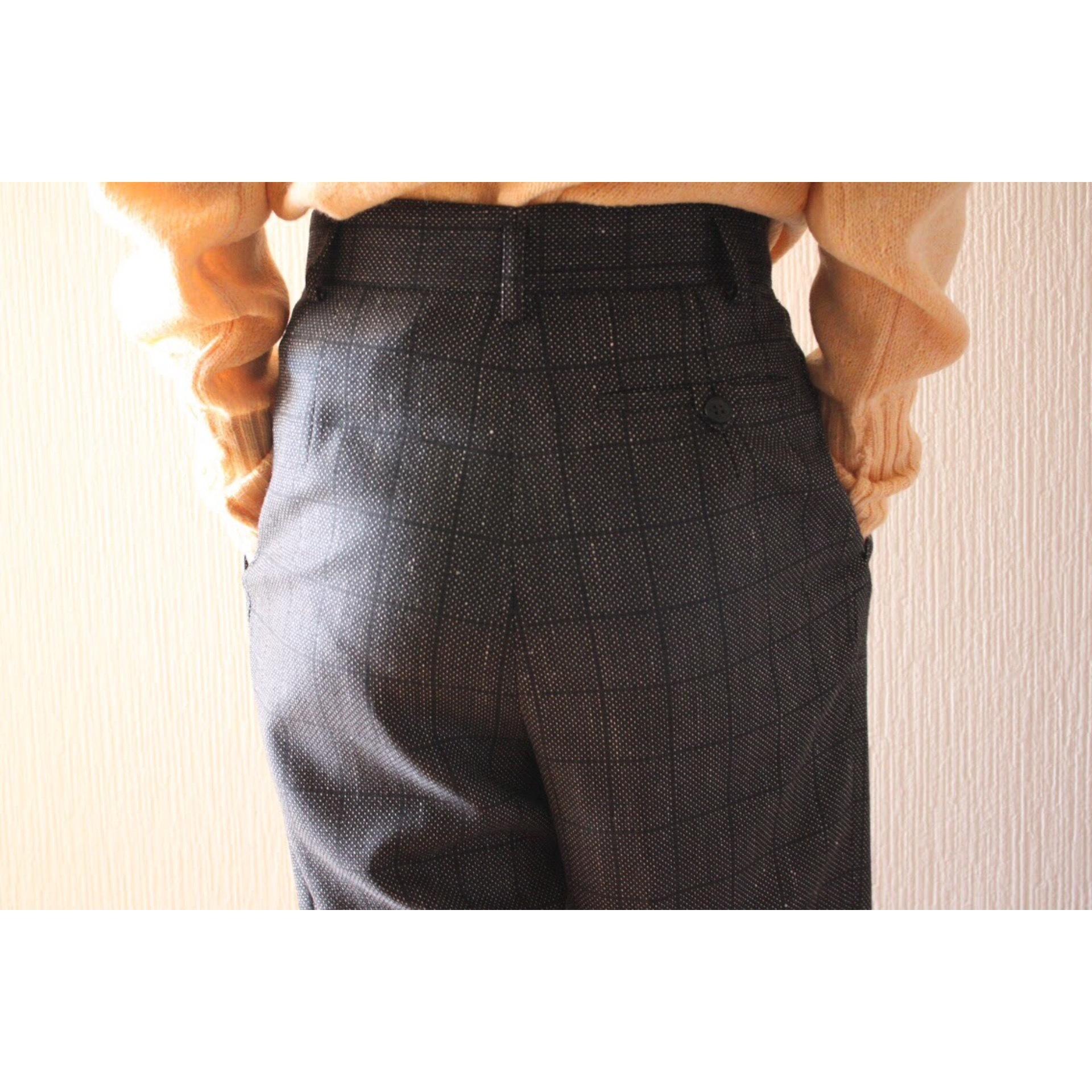 Vintage monotone check slacks
