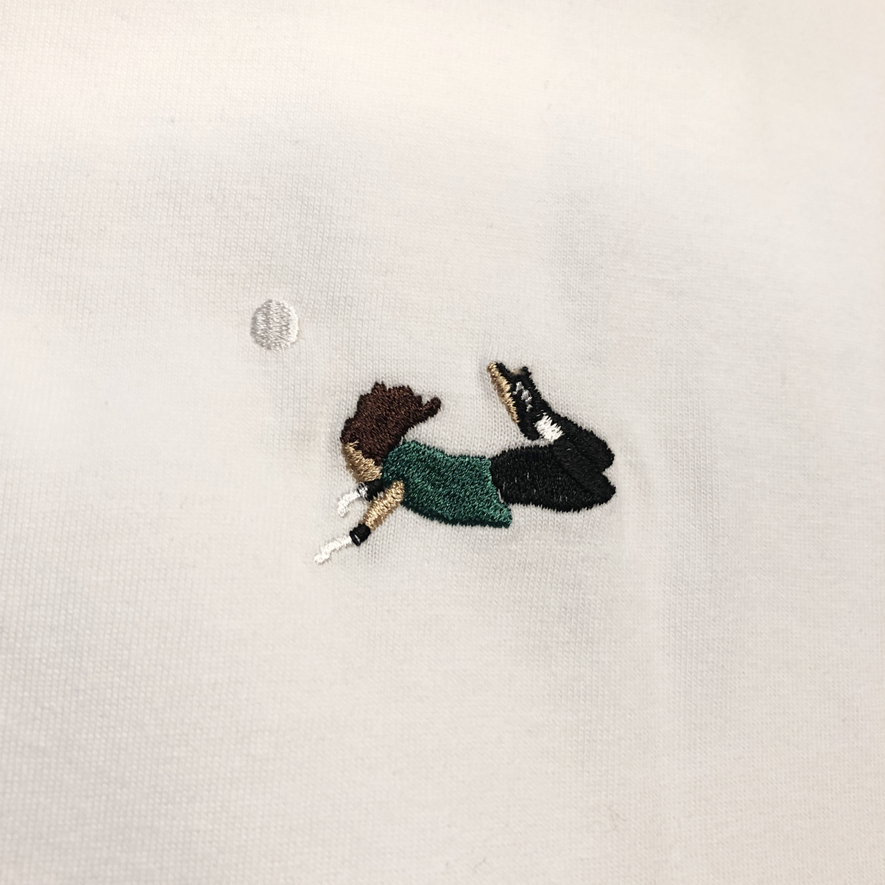 スコーピオンTシャツ刺繍半袖 / ホワイト   SINE METU - シネメトゥ
