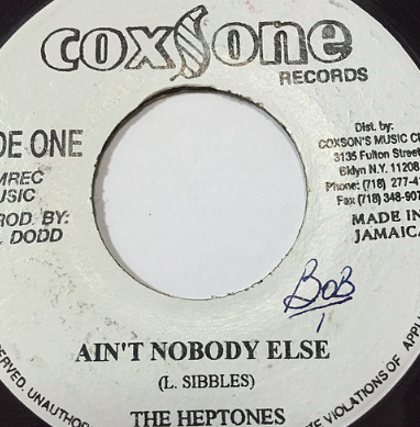 The Heptones(ヘプトンズ) - Ain't Nobody Else【7'】