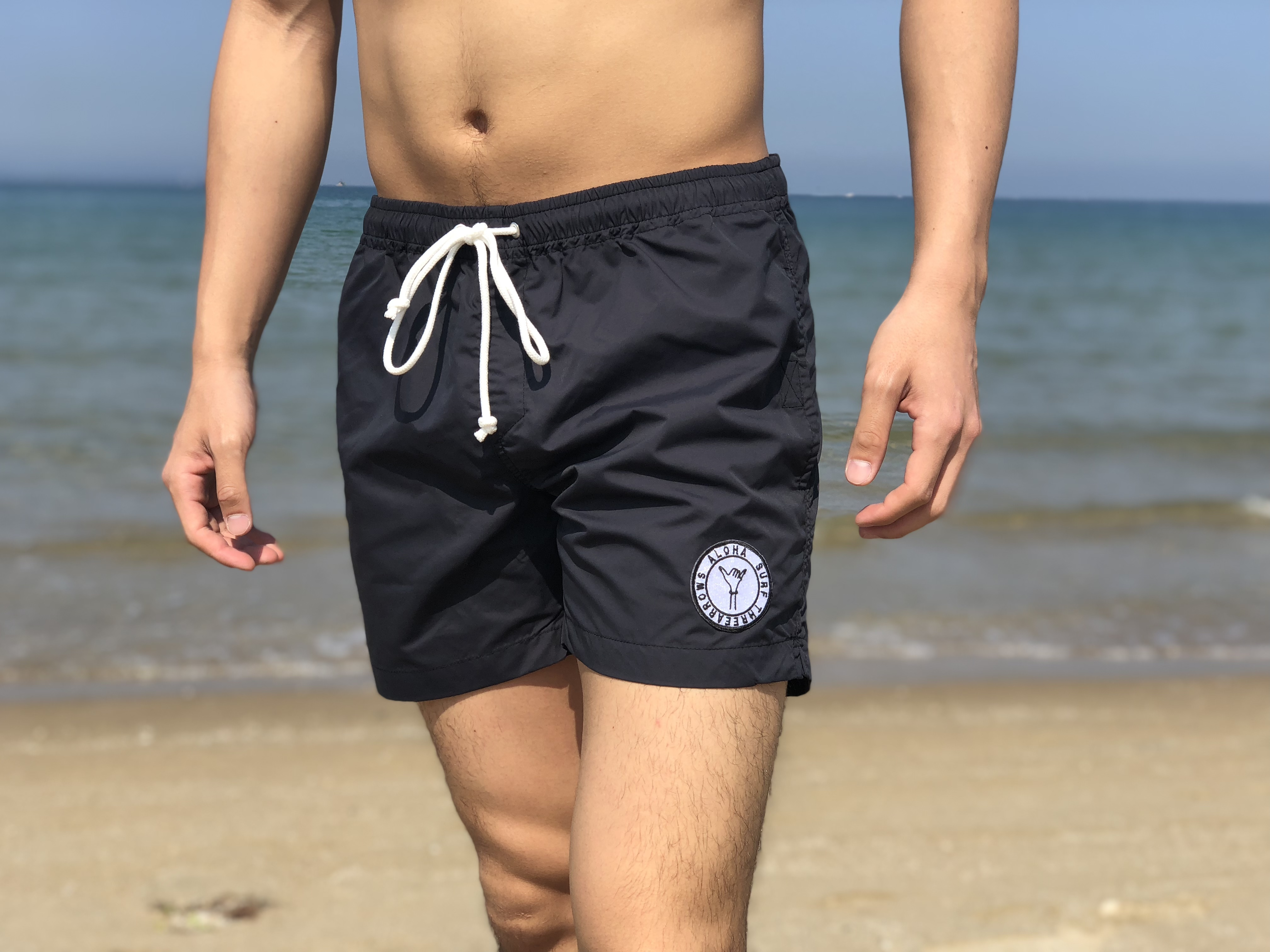 【7/13 0:00 ReStock 送料無料】ALOHA SURF Board Shorts(black)