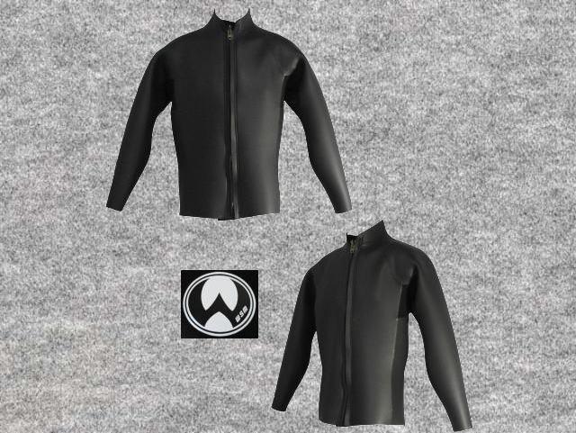 特別価格既製品ダイビングフラットスキン3X3mmウエットスーツ長袖ジャケット立衿wsm1710FS33k